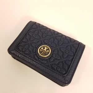 Tory Burch Bryant Quilted Leather Card Key Wallet